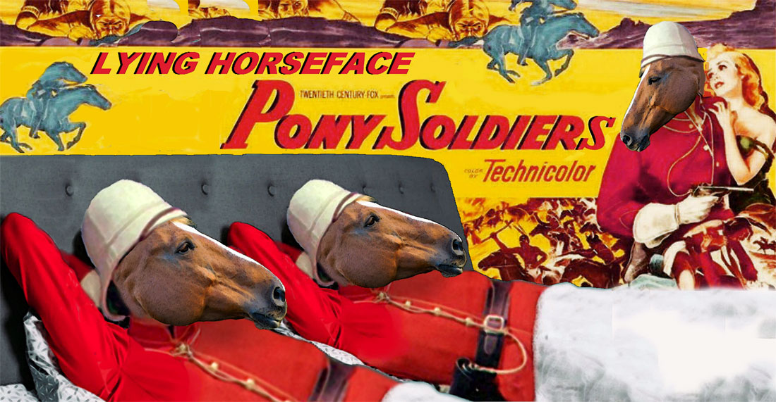 LYING HORSFACE PONY SOLDIERS