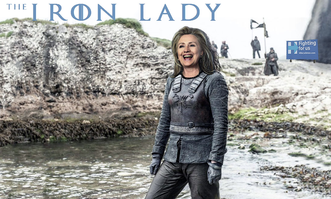 HILLARY CLINTON starring in THE IRON LADY