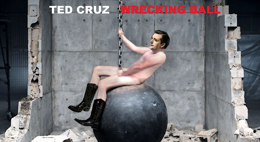TED CRUZ - WRECKING BALL is a new music album and TV mini-series on FOX WHITE CHANNEL