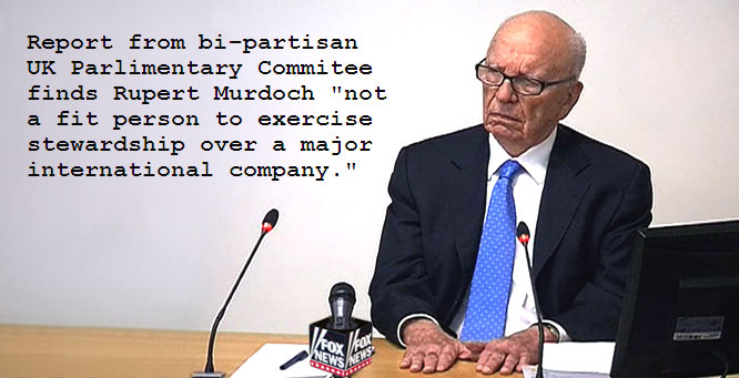 Murdoch deemed not a fit person!