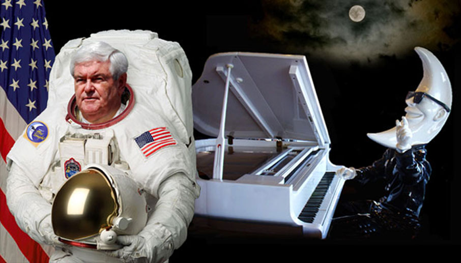 Gingrich promises moon colony!