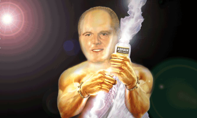 Rush pushing aspirin for birth control!