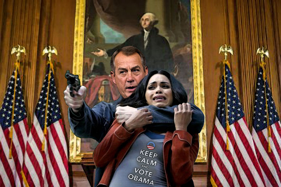 Boehner takes middle class hostages.
