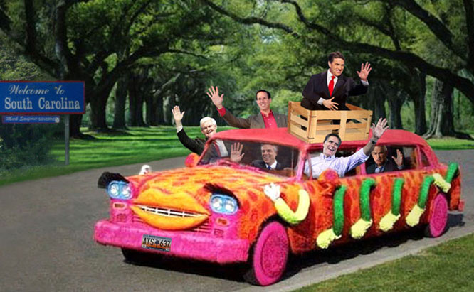 GOP Clown car comes to South Carolina.