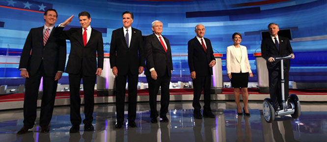 Huntsman back in final Iowa debate.