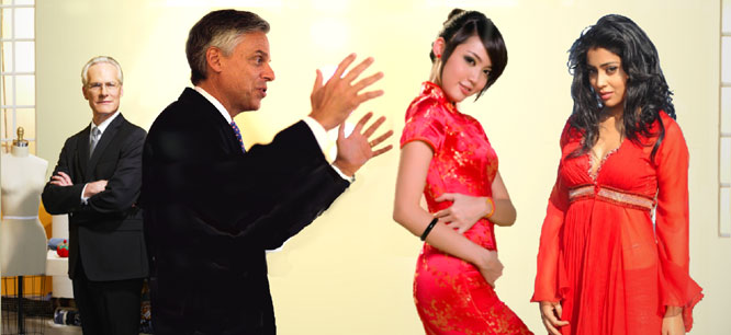 Huntsman to make foreign policy a dress.