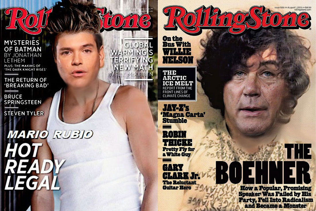 Outrage over Rolling Stone magazine covers.