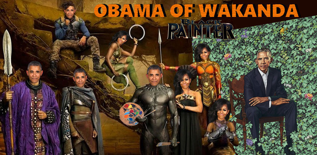 OBAMA OF WAKANDA - BLACK PAINTER