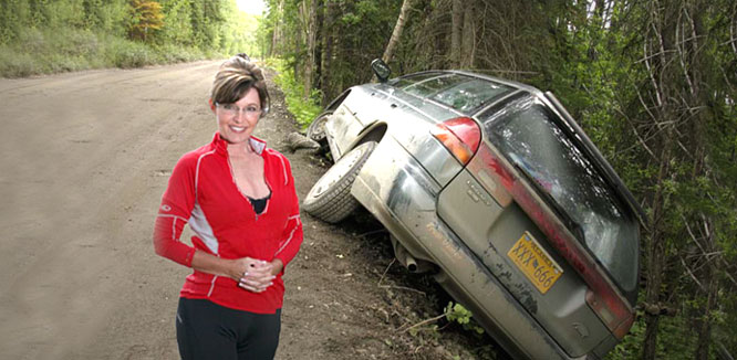 Palin had prior wreck in Alaska!