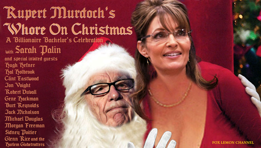 RUPERT MURDOCH'S WHORE ON CHRISTMAS - A BILLIONAIRE BACHELOR'S CELEBRATION