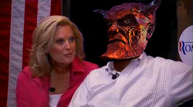 Ann       Romney claimed Mitt has been turned into a demon on Meet The Press.