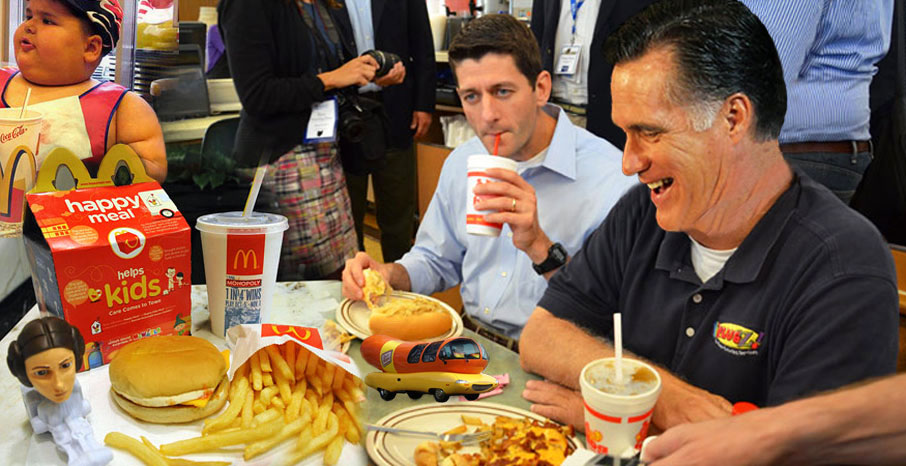 Ryan insisted Romney campaign to put kid toys be back in happy meals before accepting nod.