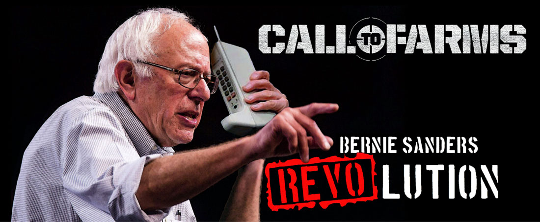 CALL TO FARMS action game by BERNIE SANDERS REVOLUTION