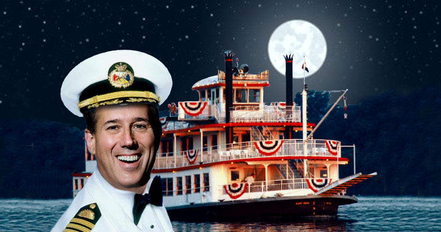 Santorum finds support up the Yazoo.