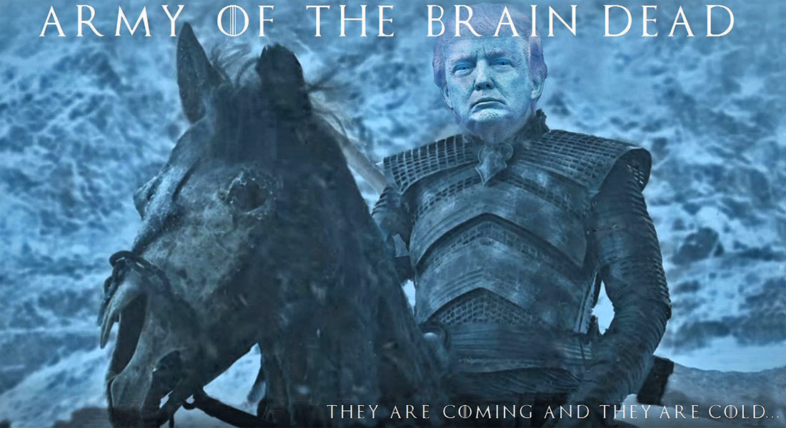 DONALD TRUMP starring in ARMY OF THE BRAIN DEAD