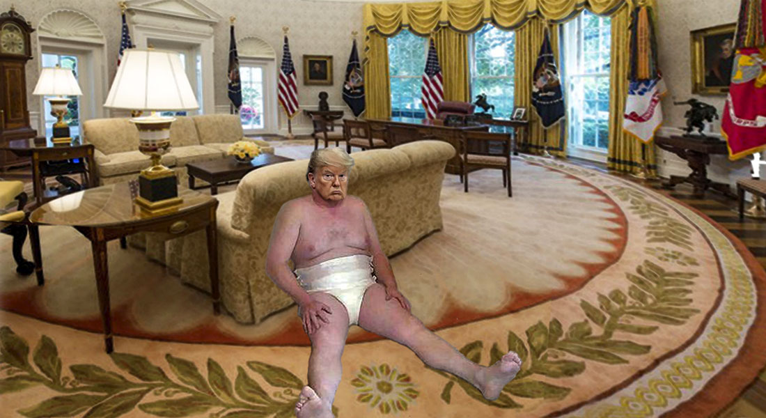 DIAPER DON IN OVAL OFFICE