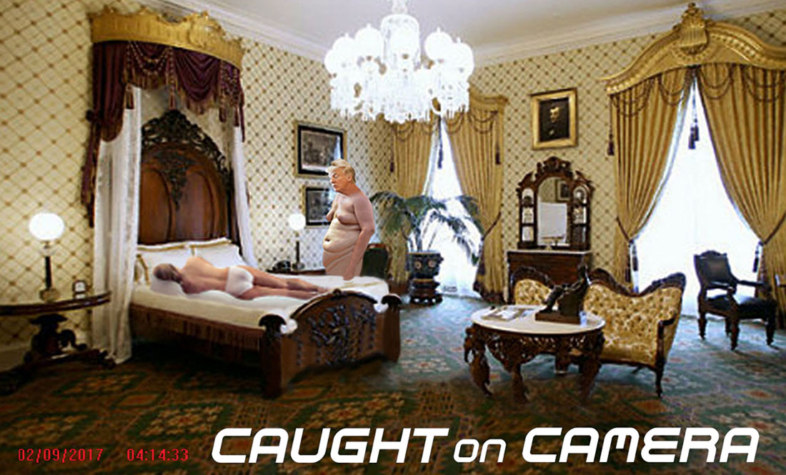 CAUGHT ON CAMERA - LINCOLN BEDROOM