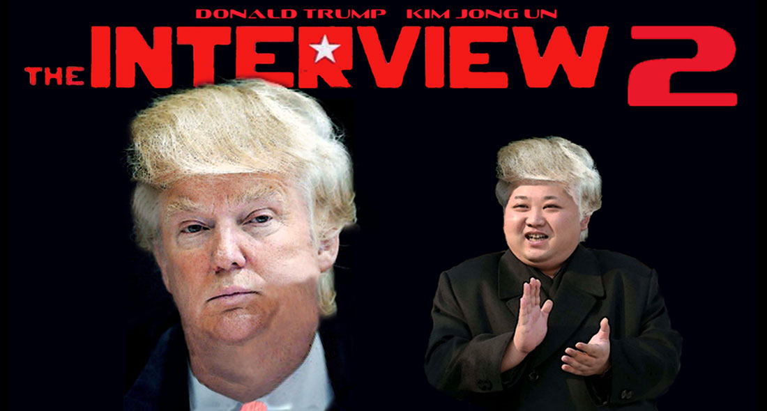 DONALD TRUMP and KIM JONG UN in THE INTERVIEW 2