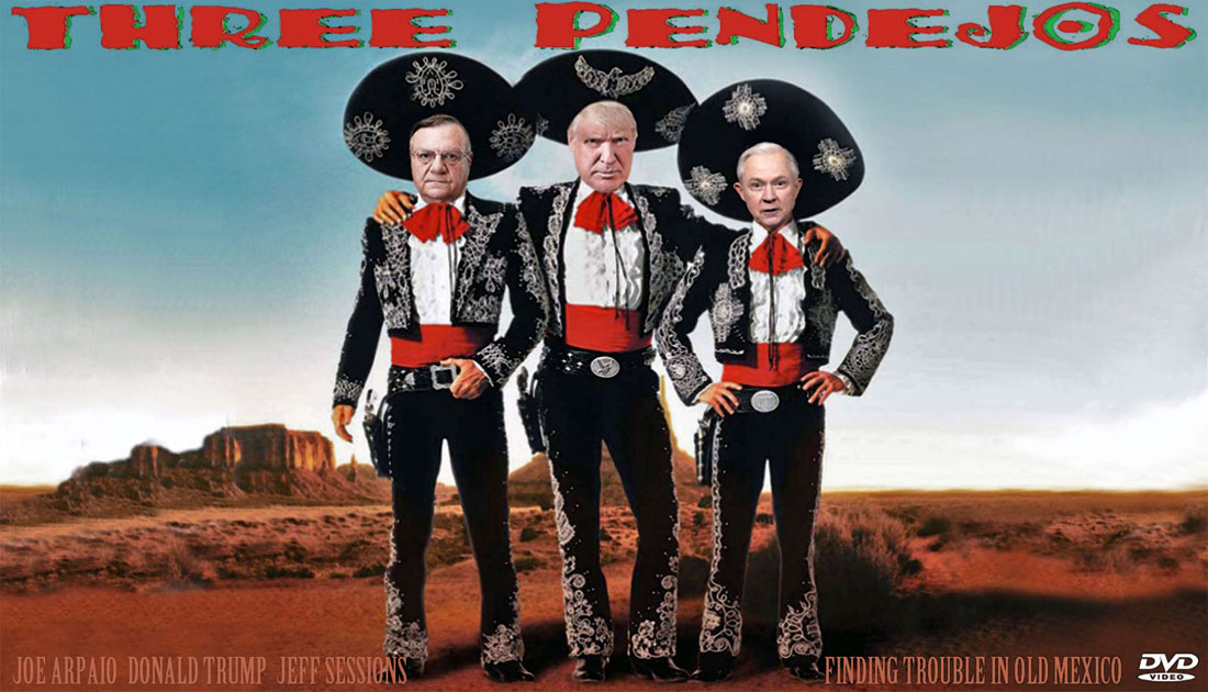 THREE PENDEJOS